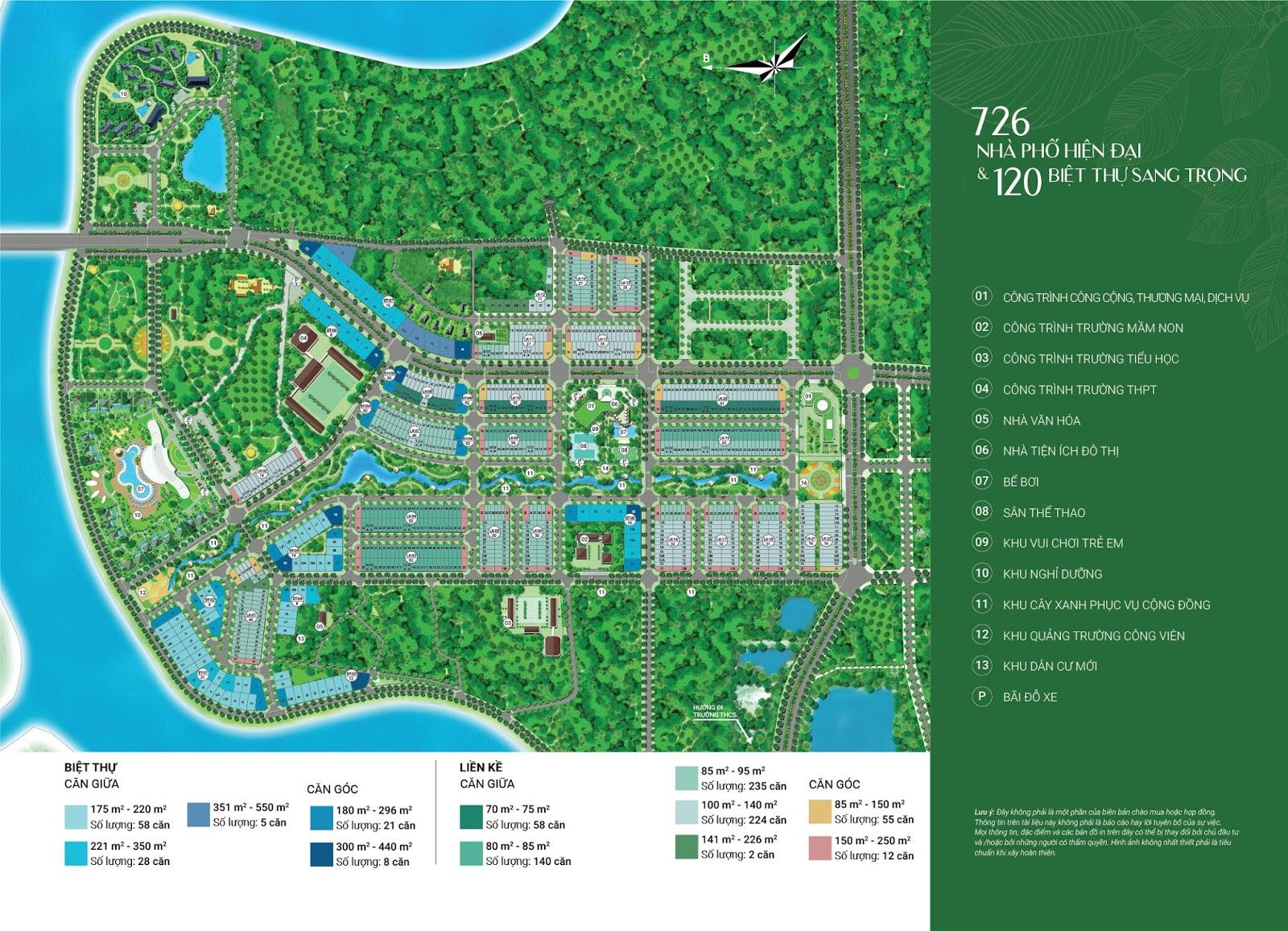 diện tích dự án river silk city