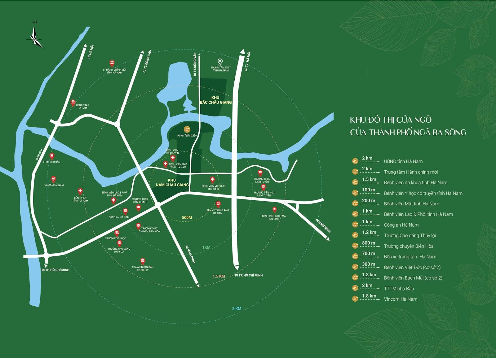 vị trí dự án river silk city